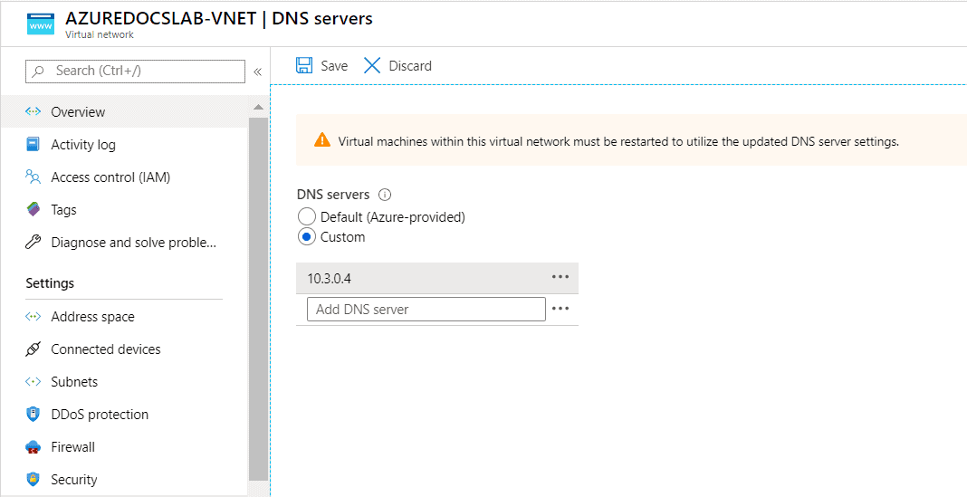 Azure WVD Network Settings