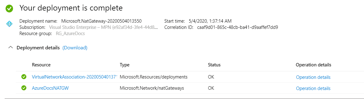 Azure Virtual Network NAT Gateway ile Statik Outbound IP